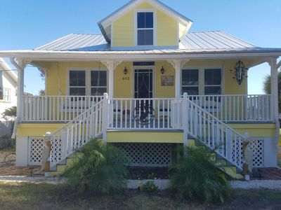 Photo for Water Front Home on Historic First St on the Gulf of Mexico