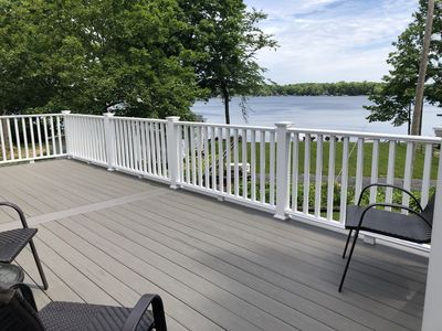 Newly constructed deck with access from the sunroom!