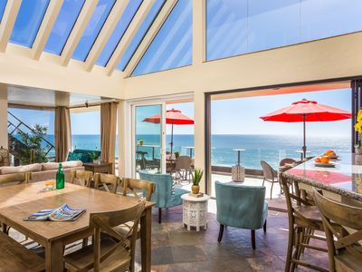 Premier Oceanfront Rental with a Rooftop Deck, Spa, & AC