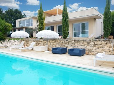 Photo for Splendid architectural villa built in a beautiful location in the Ardèche
