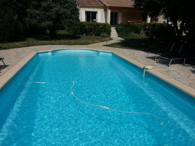 Photo for La Douce Garrigue - Charming, sunny, swimming pool, villa ground floor of 10 beds