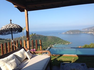 Photo for UNIQUE BALINESSE HOUSE ,AMAZING VIEWS OVER THE OCEAN AND ZIHUATANEJO BAY