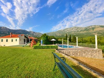 Photo for villa with private pool, tennis court and sauna, surrounded by vineyards and 30km from Dubrovnik