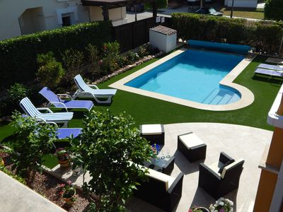 Photo for Outstanding 3 bedroom,3 bath villa with heated pool on Mar Menor golf resort.