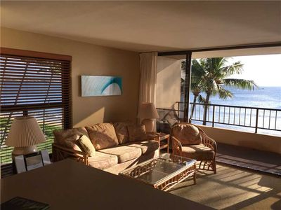 Photo for Ocean Front views from this bright Sugar Beach corner unit #413