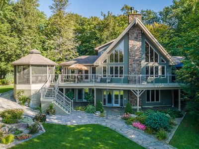 Photo for Stewart Lake Retreat A Gorgeous beachfront lakehouse with all the bells & whistles!