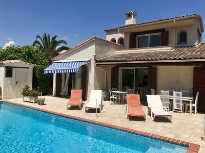 Photo for VILLA FULL SOUTH VERY QUIET ANTIBES JUAN LES PINS CANNES SWIMMING POOL HEATED