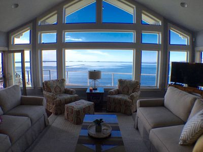 Photo for Oceanfront home with breathtaking panoramic views of Penobscot Bay, near Camden
