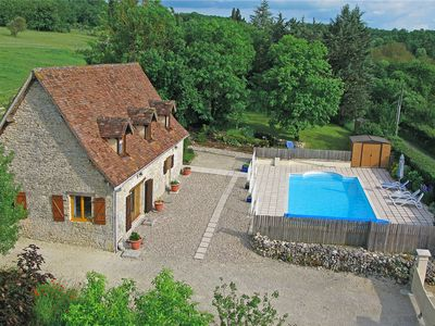 Photo for Charming Cottage, Private Heated Pool&Gardens. Near Lot & Dordogne river valleys