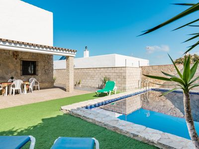 Photo for Rustic Villa Close to Beach with Pool, Terrace & Wi-Fi; Pets Allowed, Parking Available