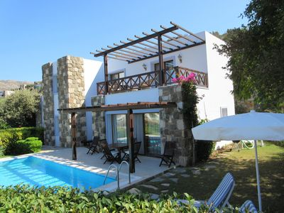 Gumusluk Villa with Private Pool and Garden