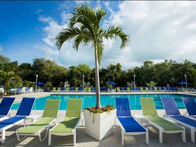Photo for Tropical 2 Bedroom Partial Ocean View Suites - Pool, Dock & Marina - Near all Major Attractions