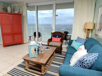 Photo for Gulf Front 1 bedroom 1 Bath Luxury throughout.