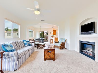 Bright Sanctuary w/ 2 Master Suites + Walk to Beach