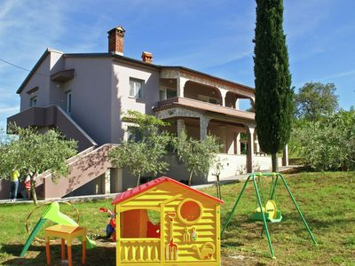 Photo for Spacious, child-friendly apartment with olives field and beaches within 5 km