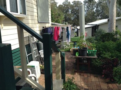 Courtyard for bbqs & hanging out washing.
