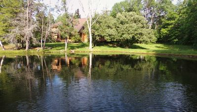 Photo for Waterfront Secluded Log-house w/Sauna, Games, More, Mins To Town & Activities