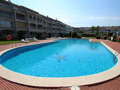 Photo for SANT MAURICI 206, APARTMENT EMPURIABRAVA WITH SWIMMING POOL