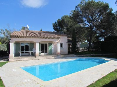 Photo for high standing, air conditioned, Provence styling villa with heated swimming pool