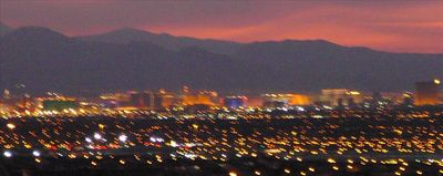 Fall in love all over again.  Las Vegas View from your Verandah, ever-changing..