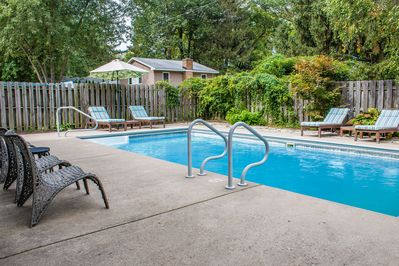 Up To Date Pool House W Hot Tub 500 Ft From Private N Lake Michigan Beach New Buffalo