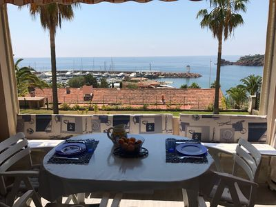 Photo for apartment at the foot of the beaches with a paradisiac view on the French Riviera
