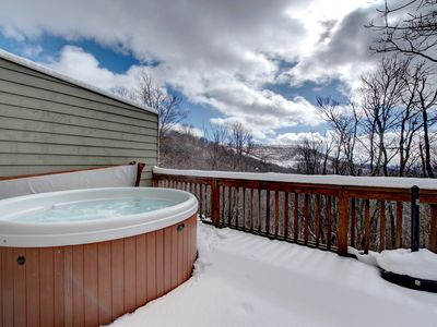 Photo for Come On Inn - Enjoy the cozy life in this mountaintop townhouse with a hot tub, game room, and more! Includes a Biltmore Pass!