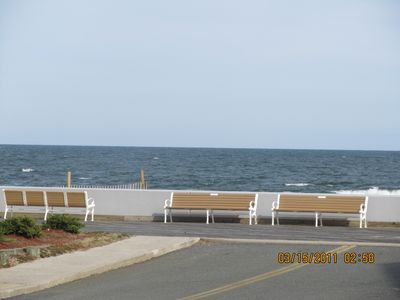 View from front porch. Boardwalk & beach access