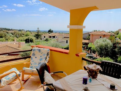 Photo for Panoramic villa overlooking the sea, in the countryside 700 meters from the beach