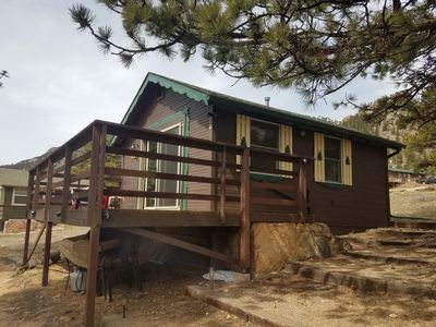 Photo for Cozy Estes Park Cabin With Extraordinary Views; Steps from RMNP
