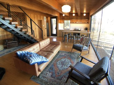Photo for Shou Sugi Ban River Cabin, River Front, Fisherman's Paradise, WiFi, Fire Pit