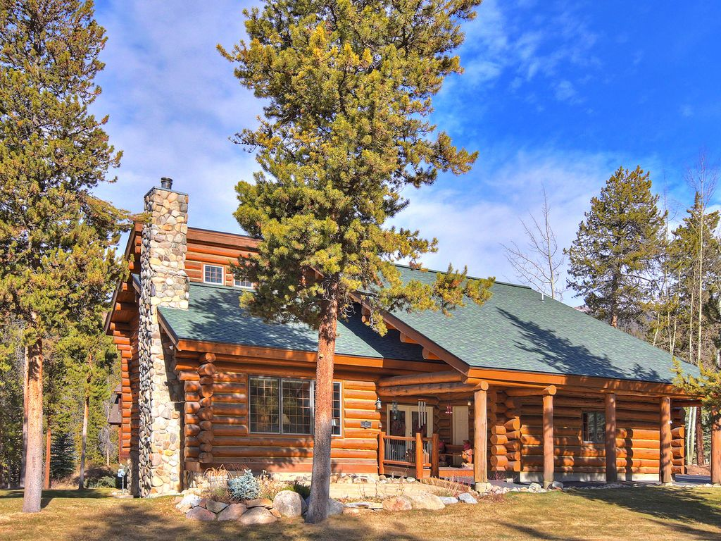 Luxury 5 bedroom log cabin retreat in keystone keystone for Log cabin retreat