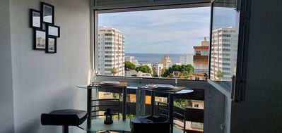 Photo for NEW GREAT studio paloma park SEA VIEW, WIFI 100m from the beach at 2min paloma park