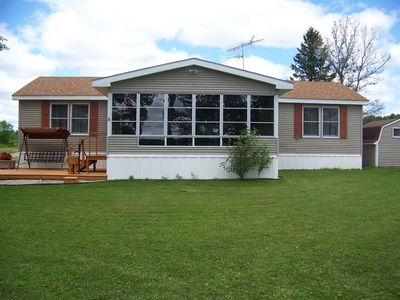 Photo for 3 Bed, 2 Bath Home on 100' Pickerel Lake No Tax or Cleaning Fees