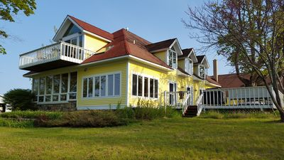 Photo for Spacious And Peaceful Retreat On Grand Traverse Bay! Large Deck/Firepits/Beach