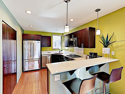 Photo for New Listing! Townhouse w/ Private Garage, 2 Balconies - 1 Block to Alki Beach