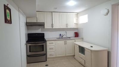 Photo for Cosy two bedroom BSMT unit +Living room, Kitchen Near Plaza and Malls