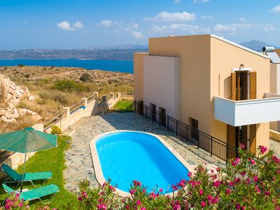 Photo for Villa Stratos: Large Private Pool, Sea Views, A/C, WiFi, Eco-Friendly