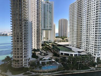 Photo for W Hotel Condo Luxury Living, Gym,Pool, Spa Hotel Chic! Miami at its finest!