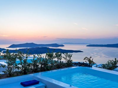 Photo for R316 Premiere Suite Santorini with Heated Private Pool, Aegean Sea views Incl Breakfast