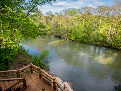 Photo for Kingfisher Cabin - water front with decks leading to Mt. Fork River access