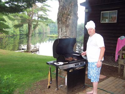 Grilling lakeside