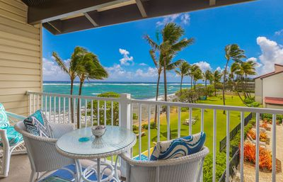 Photo for NEW! Kapaa Shore Resort #327, Beautiful Unit!Oceanfront, Moon & Sunrise Views