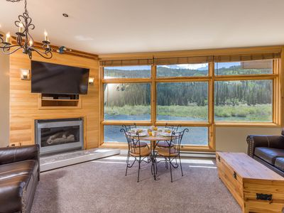 Photo for Modern Condo in River Run, Water & Mountain Views, Near Gondola, Free WIFI