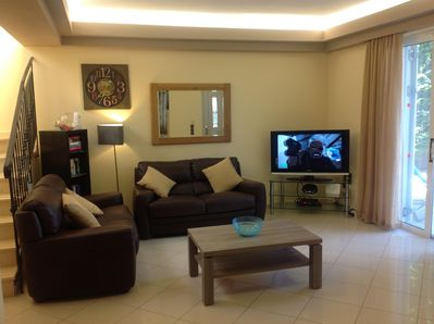 Living room  with 42 inch tv and DVD , plus wi fi