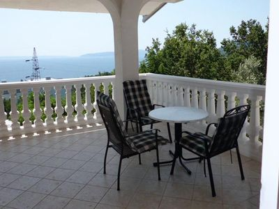 Photo for Studio flat with terrace and sea view Ičići, Opatija (AS-2316-a)