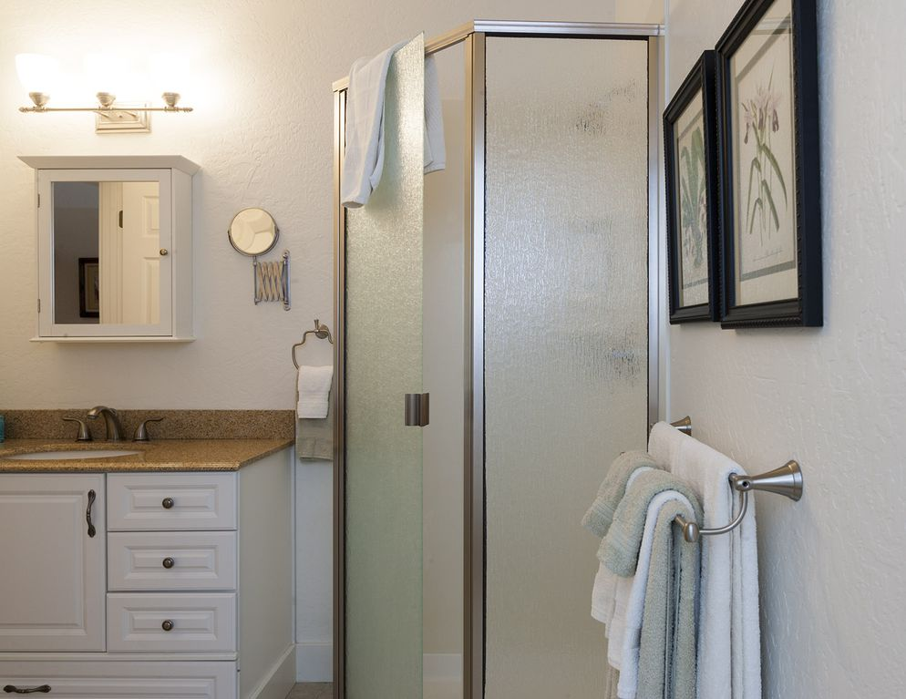 varsity theater bathroom. First bedroom with bath Steps to theatre  shopping dining and all VRBO