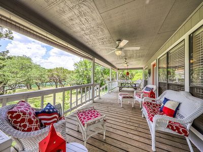 Photo for NEW LISTING! Dog-friendly, waterfront home w/ boat dock, ramp, & spacious porch!
