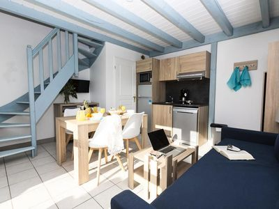 Photo for Résidence Odalys Valentin Plage *** - 3 Room Cabin 7/8 People Park View