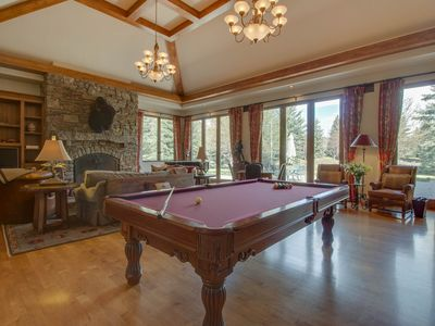 Photo for Luxurious, secluded house w/ private hot tub, gym, game room & mountain views!